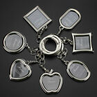 1xCreative Couple photo frame keychain personalized love keyring photo keychain