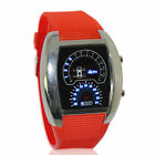 LED Watches Mens Car Blue Waterproof Cheap Dashboard Watches Sport Racing US