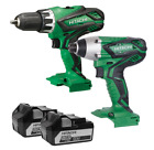Hitatchi Power Tools 18v Combi Drill with Motor and 2x5 A Li-Ion Two Speed Gear