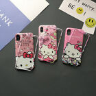 Cute Bow Hello Kitty Melody Tempered Glass case cover for iphone XS Max 8 7 plus