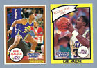 (2) 1990 STARTING LINEUP CARDS KARL MALONE UTAH JAZZ