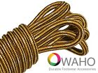 Brown and Gold with Natural Kevlar  Heavy Duty Reinforced Shoe Boot Laces