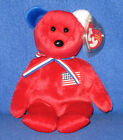 TY AMERICA (RED) the BEAR BEANIE BABY - MINT with TAG - SEE PICS