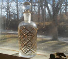 1890 CUT GLASS GOLD COLOGNE PERFUME BOTTLE WITH MATCHING NUMBER STOPPER GERMANY