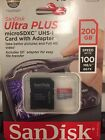 Brand NEW Authentic SanDisk Ultra Plus micro SDXC 200GB Card w Adapter