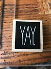 Stampabilities Wood Mount Rubber Stamp Yay Saying Excited Phrase Word
