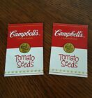 2 Campbell's Soup Tomato Seed Packets 2001