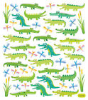 Multicolored Stickers Alligator Fun