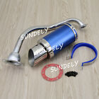 Scooter Short Performance Exhaust System Blue For GY6 125cc 150cc Scooter Parts