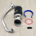 Performance Exhaust System Short Black Silve For GY6 50cc 150cc Chinese Scooter