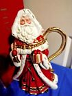 Fitz and Floyd Yuletide Holiday Pitcher Santa Claus Christmas Pitcher New in Box
