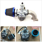 26mm Carburetor Intake Pipe Air Filter For 110 125cc 140cc Engine Pit Motor Bike