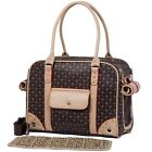 Pet Carrier Dog Puppy Chihuahua Faux Leather Crate Cage Travel Handbag Tote New