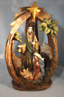 Beautiful LED Lighted Nativity Scene Figurine Indoor Christmas Holiday Decor