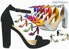 NEW Womens Color Open Toe Ankle Strap Chunky Heel Dress Sandal Size 55 11