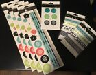 Lot of Black Orchid Embellishments from SEI Stickers Ribbon and Brads