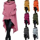 2017 Women's Fashion Solid Color Draw Cord Coat Long Sleeve Loose Casual Ponch