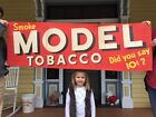 Huge 1930 Model Tobacco Antique Sign 61X20 Store Advertising Barn Find RARE