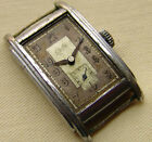 MEN'S WWII ERA EXITA UROFA 58 military WRISTWATCH for parts or repair as is