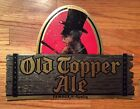 Die Cut Old Topper Ale Beer Sign Top Hat Man Rochester NY Advertising Breweriana