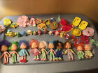 LOT OF STRAWBERRY SHORTCAKE VINTAGE DOLLS + PETS + CLOTHES + ACCESSORIES