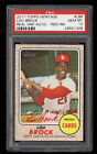 2017 Topps Heritage Real One Red Ink Lou Brock AUTO 68 PSA 10 GEM MINT