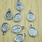 25pcs Tibetan silver oval picture frame charms h0402