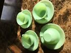 Jadeite, jadite, Alice cups and saucers
