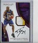 2016-17 immaculate Shaquille O'Neal game used worn patch autograph 06 25 shaq