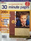 Creating Keepsakes 30 Minute Scrapbooking Pages Idea Magazine Font CD Inside
