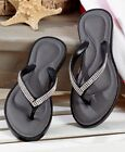 The Lakeside Collection Black Memory Foam Comfort Sandals