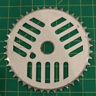 GT Pro Performer White Cheese Grater Aluminum Sprocket Chainring Old School BMX