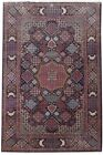 Rich 10x14 Persian Isfahan Signed Rug Hand-Knotted Navy Blue Rug