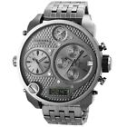 Diesel DZ7247 Mr. Big Daddy SBA Oversized Gunmetal 4 Time Zone Chrono 56MM NEW