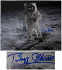 Buzz Aldrin Fantastic Signed 20'' x 16'' Photo on Moon