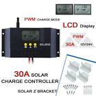 30A PWM Solar Panel Charge Controller Battery Regulator+4PCS Solar Z Bracket UP