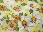 Beautiful Light Yellow Orange White Green Floral Knit Fabric Soft Feeling BTHY