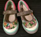 See Kai Run Marie Toddler Girls Floral Flower Print Mary Jane Sneaker size 9