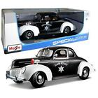 Maisto Special Edition 1939 Ford Deluxe Coupe Police Vehicle Diecast 118 Scale