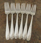 IS Daffodil Set of 6 Dinner Forks 1847 Rogers Silverplate Flatware Lot B