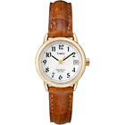 Timex T2J761, Women's Easy Reader, Brown Leather Watch, Indiglo, Date