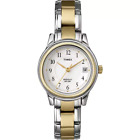 New Timex T25771 White Dial Two tone Steel Bracelet Strap Indiglo Womens Watch