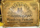 TRUE BLACK AMERICANA 1920s FAIRBANKS GOLD DUST TWINS LARGE SHIPPING BOX RARE