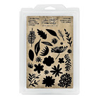 Tim Holtz Idea ology Cutout Floral Cling Foam Stamps Th93703 2018