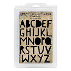 Tim Holtz Idea ology Cutout Uppercase Alphabet Cling Foam Stamps Th93699