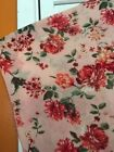 Large XL 1X New Pink Red Roses Floral Topper Cardigan Kimono Jacket Tope Boho