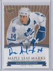 2017-18 UD TORONTO MAPLE LEAFS CENTENNIAL MAPLE LEAF MARKS AUTO DAVE ANDREYCHUK