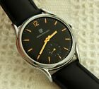 VINTAGE GIRARD PERREGAUX BLACK DIAL LARGE 37.9MM CASE MANUAL WIND SERVICED