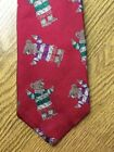 Vintage Polo By Ralph Lauren Rugby Polo Bear Red Silk Neck Tie Youth Boys