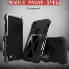 Shockproof Armor Heavy Duty Aluminum Metal Hybrid Case For iPhone X 7 6s 8 Plus